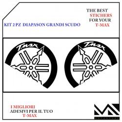 ADESIVI DIAPASON GRANDI STILIZZATI CON SCRITTA T MAX PER T MAX 530 / 560