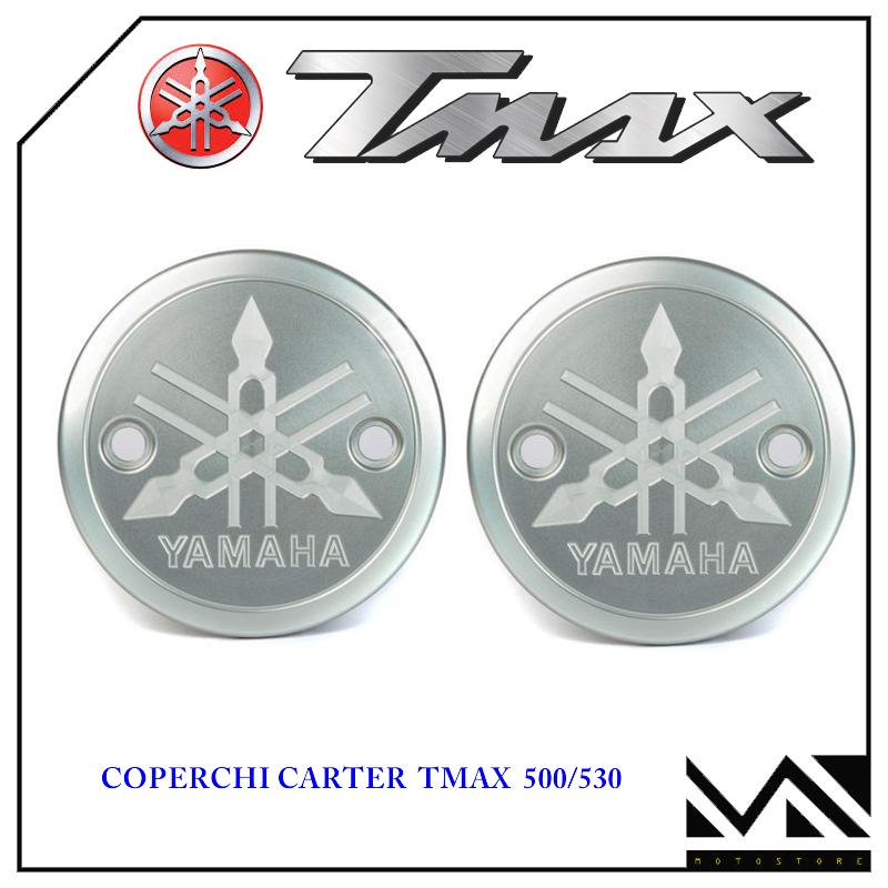 COPPIA COVER FRIZIONE CARBON CON LOGO DI5 GIALLO T-MAX TMAX 500 530 2001-2016
