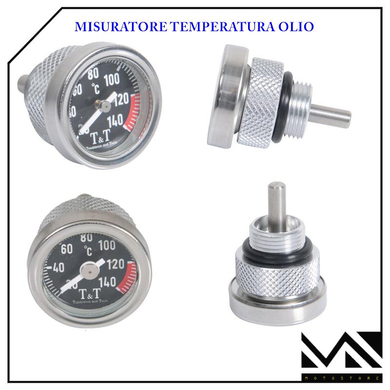 MISURATORE TEMPERATURA OLIO ARGENTO FONDO NERO PER YAMAHA TMAX T MAX 500 2011